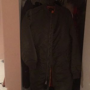 Alpha Industries. Inc long bomber jacket